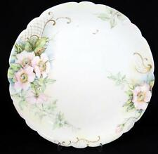 "ANTIQUE JP JEAN POUYAT LIMOGES FRANCE PINK FLORAL & GOLD 12 3/4"" PLATTER 1906-32"