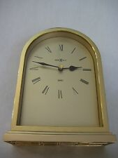 "HOWARD MILLER QUARTZ DESK MANTLE SHELF CLOCK, MADE IN JAPAN, 7 3/4"" T X 5 1/2"" W"
