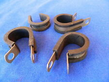 "4 Fascette fissaggio cavi/tubi avio 3/4""(mm.20) MS 21333 Aircraft Clamps NEW NOS"