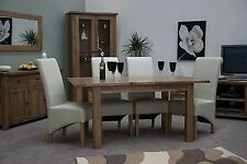 Brooklyn solid oak furniture large extending dining table