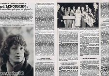 Coupure de presse Clipping 1981 Gérard Lenorman (2 pages)