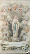 OLD BLESSED VIRGIN MARY HOLY CARD ANDACHTSBILD SANTINI ESTAMPA SEE MY SHOP CC619