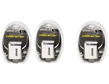 THREE 3X NP-60 NP-60DBA Batteries for Casio EX-Z20 EX-Z21 EX-Z22 EX-Z29 EX-Z80