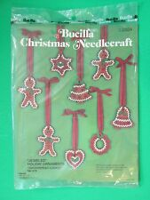 Bucilla Christmas Needlecraft Jeweled Holiday Ornaments Gingerbread Cookies 2824