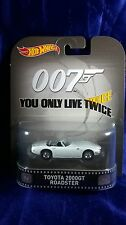 Hot Wheels 007 Toyota 2000GT Roadster You Only Live Twice Retro Entertainment