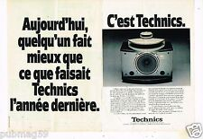 Publicité Advertising 1979 (2 pages) Hi-Fi les enceintes Technics