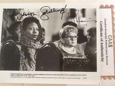 """Whoopi Goldberg & Neil Patrick Harris SIGNED 8x10 Photo 1988 """"Clara's Heart"""" COA"""