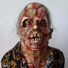 HOT HALLOWEEN ADULT THE DREADED Zombie Horror Scary monster mummy Mask Prop YR5G