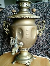 "antique large 16"" brass samovar tea pot.russian/Turkish/middle eastern"