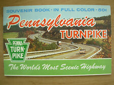 VINTAGE TOURIST BROCHURE GUIDE - PENNSYLVANIA TURNPIKE USA SCENIC HIGHWAY