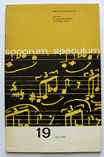 SONORUM SPECULUM 19 2 July 1964 Ton de Leeuw Willem Andriessen obit 64 pages VGC