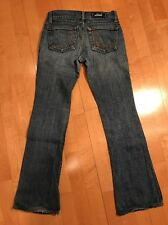 GUC Rock & Republic Roth Tag Size 24 Short Stretch Flare Jeans 27x27 Hemmed Crop