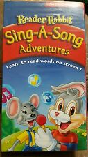 Reader Rabbit SING-A-SONG ADVENTURES VHS movie Learn read with words on screen