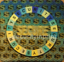 """""""SECURE"""" """"SECURITY"""" 25mm (1"""") Hologram Holographic stickers labels S25-2S"""