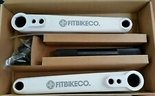 Fit Bike Co. Indent 170mm 3pc 19mm 48 Spline  RHD/LHD BMX Cranks White Color