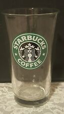 Starbucks Coffee Clear Glass Cup with Mermaid Logo