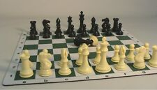 "LARGE TRIPLE WEIGHTED TOURNAMENT CHESS SET with MAT K=4"" (ww 95404-225)"
