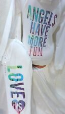 victoria secret SUPERMODEL ESSENTIALS HOODIE & SWEATPANTS NWT LARGE