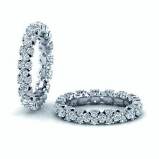 RRP £2000..! 1.40 Carat Round Diamonds Designer Full Eternity Ring in White Gold