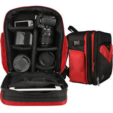 Red DSLR Camera Tablet Backpack Bag for Canon EOS Rebel T5 & T5i 700D 5D Mark