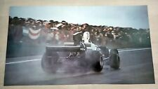 Poster Formula 1 Hunt su Hesketh e Peterson su Lotus 1974 50x28cm Perfetto