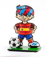 ROMERO BRITTO MINI WORLD CUP SOCCER PLAYER :SPAIN  ** NEW **