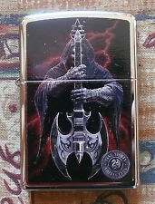 SKULLS & GOTHIC/ ANNE STOKES REAPER GUITAR ZIPPO LIGHTER FREE P&P FREE FLINTS