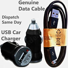 2 in 1 Car Charger + Genuine USB Data Cable For HTC Desire Eye 816 820 ONE X M8