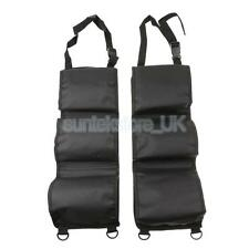 2Pcs Car Seat Back Rifle Gun Rack Pick Up Organizer Sling Bag Black