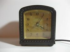 Rare Antique Art Deco Hammond Electric Alarm Reverse Bakelite Clock