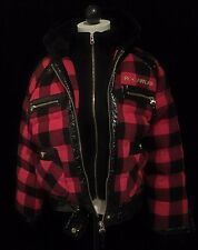 VINTAGE Rocawear Winter Jacket Coat, Hooded, Red plaid Size XL, See Sizing Info