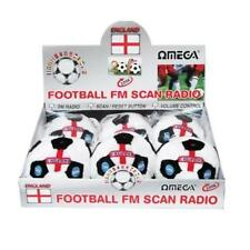 Omega England Football Shape Soft Scan FM Radio Built in Speaker Volume x 2 Toy