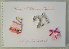 Personalised 18th/21st/30th/40th/50th/60th Birthday Guest Book/ Photo Album