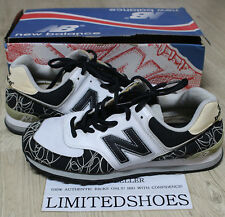 NEW BALANCE M574J HZG GRAY BLACK US 11 navy white graffiti ball and buck harvard