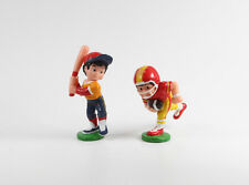 Baseball Football Sport Billy Werbefiguren === 2 x Sportler Figuren Maskottchen