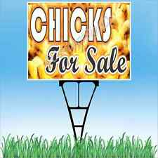 "18""x24"" CHICKS FOR SALE Outdoor Yard Sign & Stake Sidewalk Lawn Sales Farm Ranch"