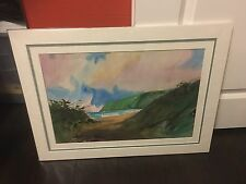 """KAUAI"" WATERCOLOR PAINTING BY WILLIAM CONDIT (SAND DOLLAR GALLERY)"