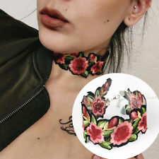 Women Bohemian Lace Flower Embroidery Choker Necklace Jewelry Collar Charm Gift