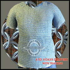 Christmas Presents BUTTED ALUMINIUM CHAINMAIL SHIRT HAUBERGEON MEDIEVAL ARMOUR.