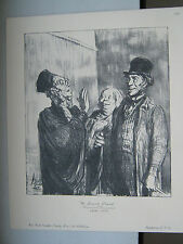 Honore DAUMIER print A SURE CASE law scene MINT New York Graphic Society LOOK A+