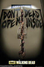 "THE WALKING DEAD ""KEEP OUT CAFETERIA"" POSTER Zombie Dead Inside NEW LICENSED"