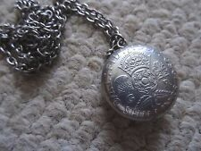 VINTAGE HAND MADE COIN NECKLACE, 1950 GEORGE V1 FLORIN  (2/-) PLUS CHAIN VGC.