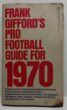 Frank Gifford's Pro Football Guide for 1970. Signet books 'Y4382'