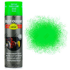 x1 High Coverage Rust-Oleum Fluorescent Green Spray Paint Neon Hard Hat 500ml