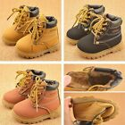 kids Shoes Boys Girls Foots Winter Children Lace Up Casual Martin Snow Boots