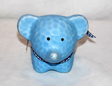 NEW BLUE ELEPHANT WITH BOW PIGGY BANK COIN MONEY HOLDER ADORABLE