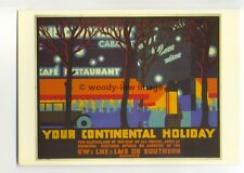 ap3080 - GW LNE LMS SR - For Your Continental Holiday, Night Scene - Postcard