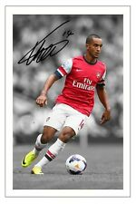 THEO WALCOTT ARSENAL SIGNED AUTOGRAPH PHOTO PRINT 2013/14 SOCCER