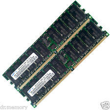 4GB 2x2GB Server RAM PC2-3200R DDR2 400MHz CL3 240Pin ECC Registered HP Dell IBM