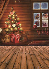 Photo Backdrops Christmas Wooden Floor Baby Photography Background Vinyl 5x7FT